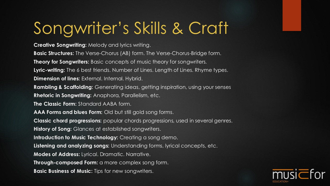 Songwriting Syllabus